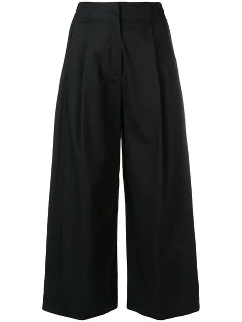 Etro Cropped Palazzo Pants In 1 Black