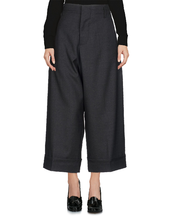 Marni Cropped Pants & Culottes In Steel Grey