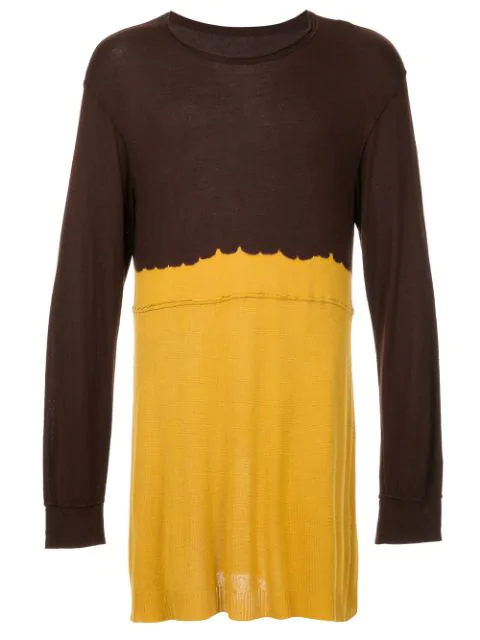 Pre-owned Comme Des Garçons Two-tone Knitted Top In Brown