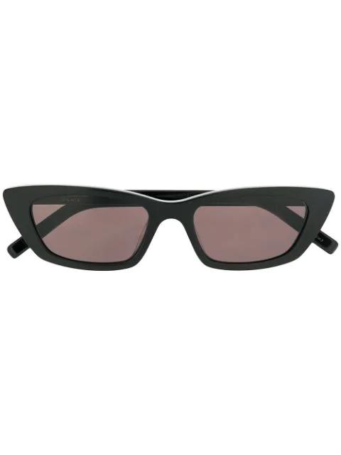 Saint Laurent Retro Slim Mass Sunglasses In Black