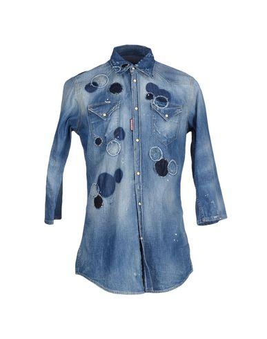 Dsquared2 Denim Shirt In Blue