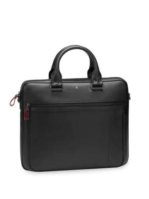 Montblanc Men's Slim Leather Document Case In Black