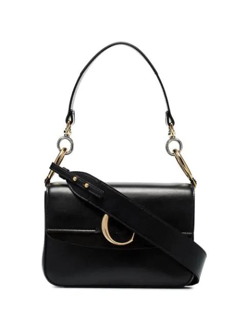 ChloÉ C Small Leather Shoulder Bag In Black