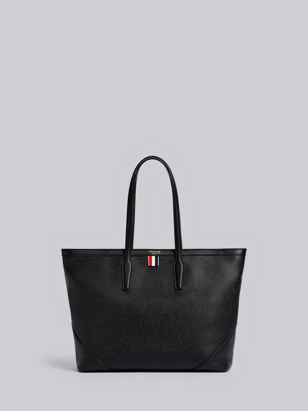 Thom Browne Textured Large Shopper Tote In Black