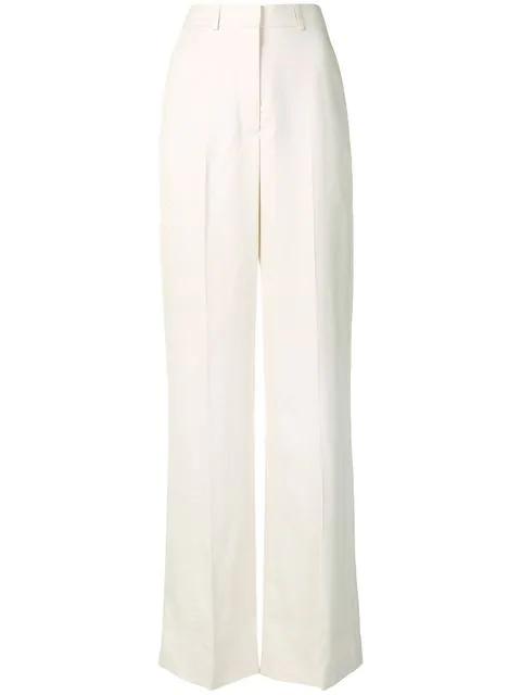 Stella Mccartney Wide Leg Trousers In Neutrals