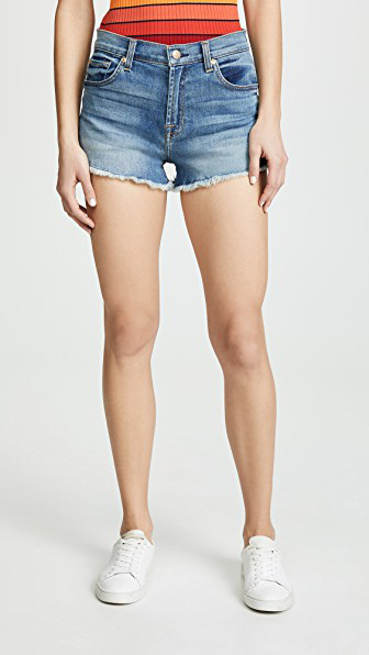 7 For All Mankind High Waist Shorts In Primm Valley