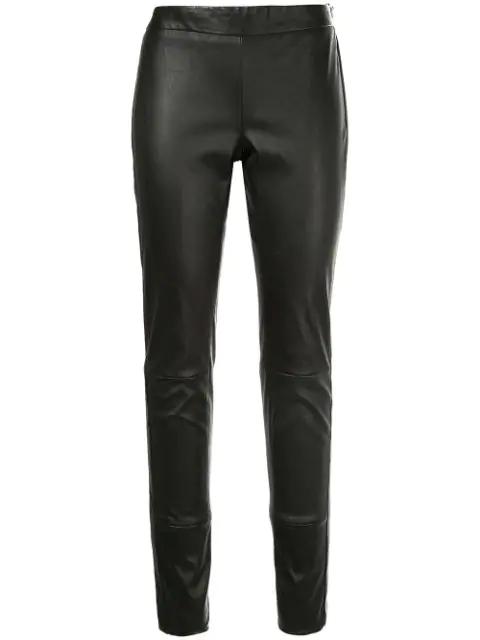 Tom Ford Leather Leggings In Black