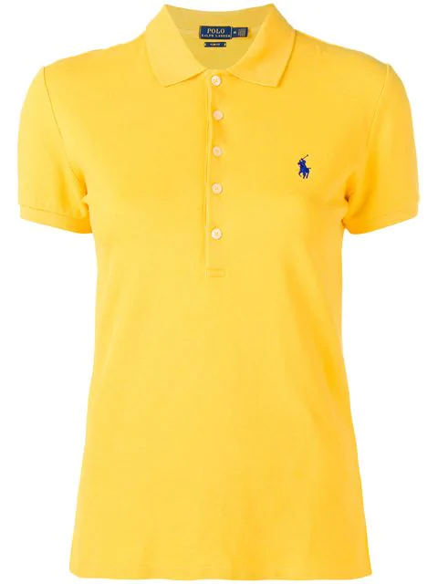 Polo Ralph Lauren Slim Fit Yellow Cotton Polo Shirt