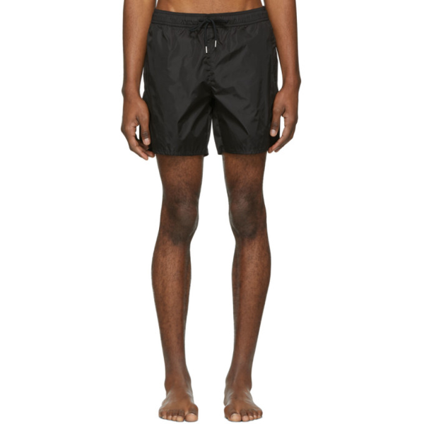 Moncler Elasticated-waist Cotton-blend Bermuda Shorts In 999.black