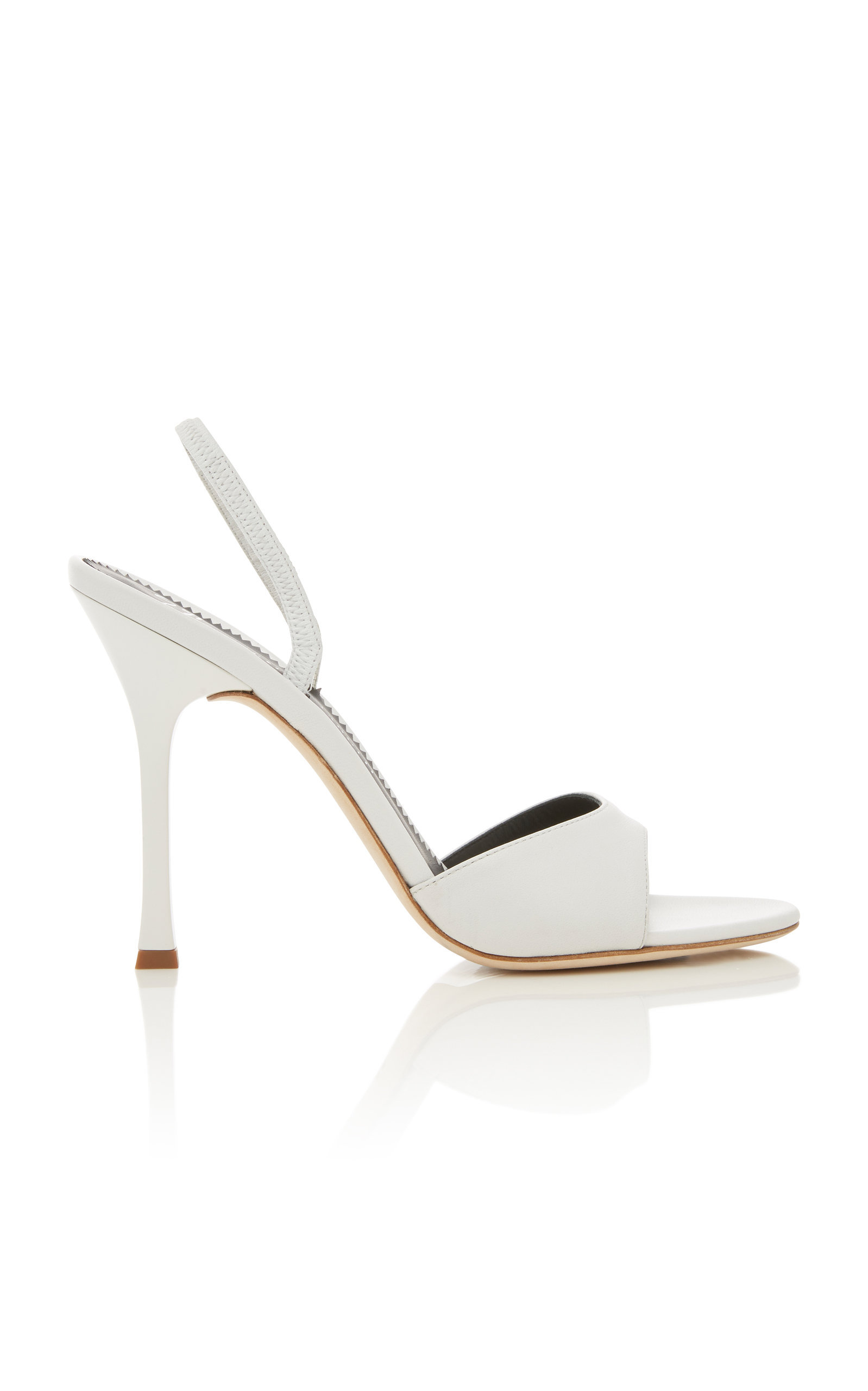 62ee32b8a4344 Giuseppe Zanotti Leather Slingback Sandals In White | ModeSens