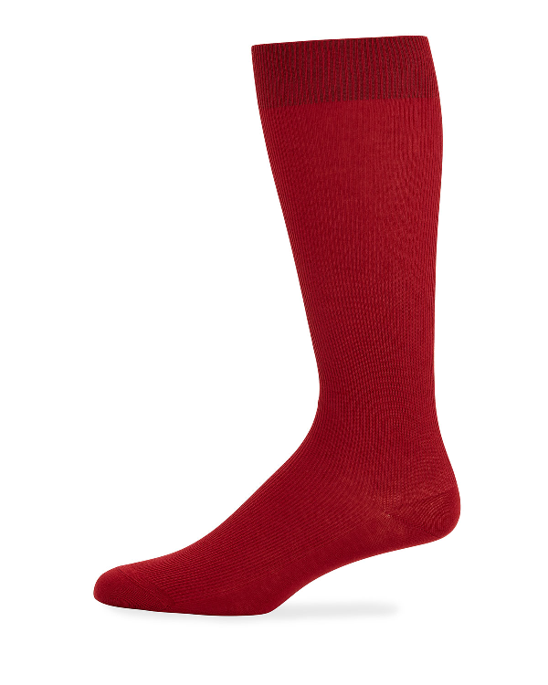 Dolce & Gabbana Men's Basic Socks, Red