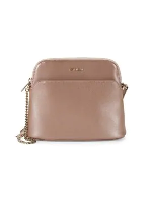 Furla Miky Crossbody Leather Pouch In Moonstone