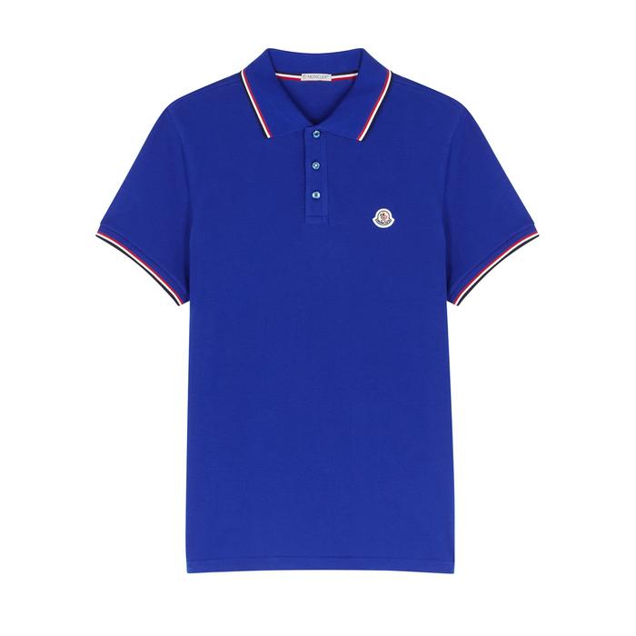 Moncler Royal Blue PiquÉ Cotton Polo Shirt