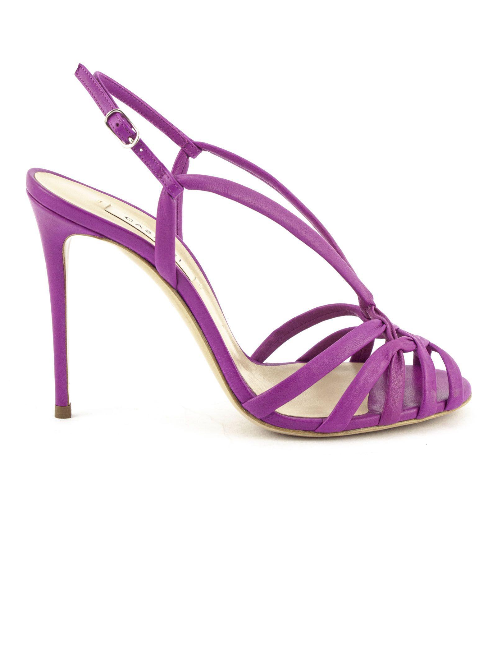 Casadei Fuchsia High-Heel Minorca Sandals In Fuxia