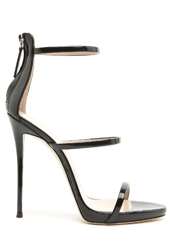 8d72bd13c46be Giuseppe Zanotti Black Patent Leather Harmony Sandal | ModeSens