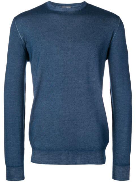 Drumohr Fine Knit Sweater In Blue