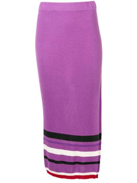 Cashmere In Love High-waisted Knitted Skirt In Purple
