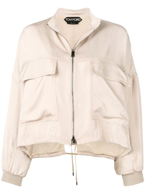 Tom Ford Zipped Jacket In Neutrals