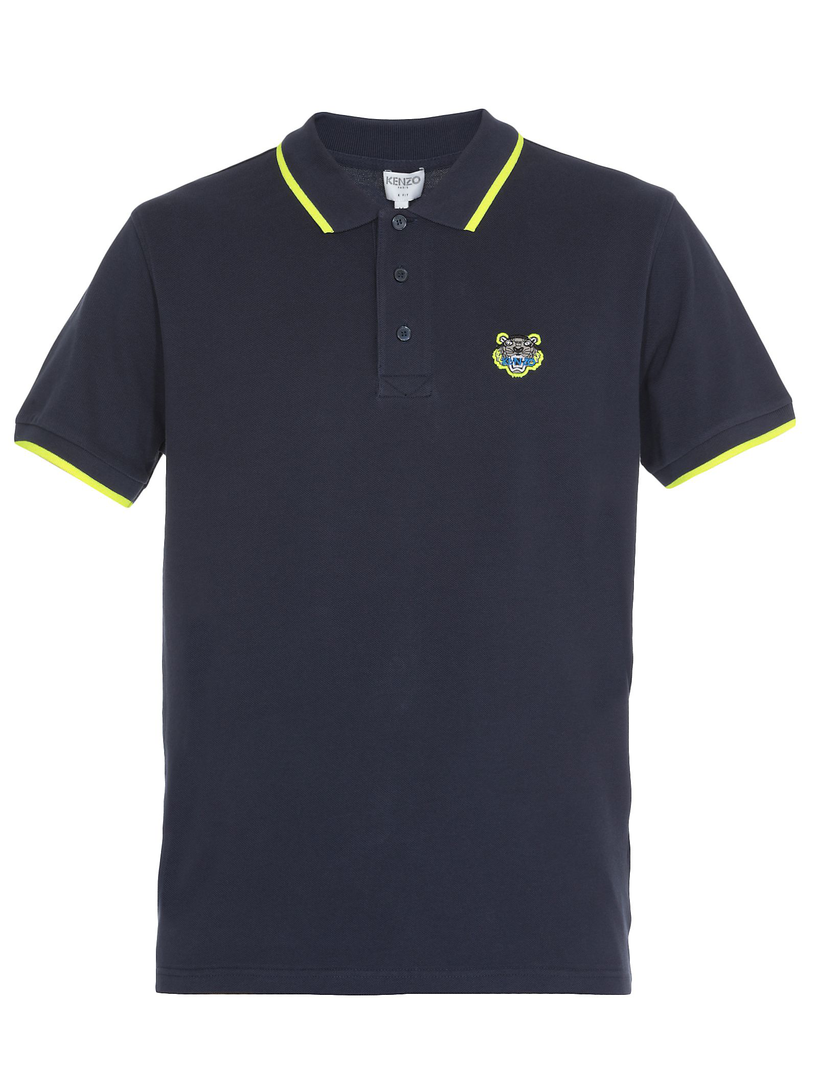 Kenzo Cotton Polo Shirt In Ink