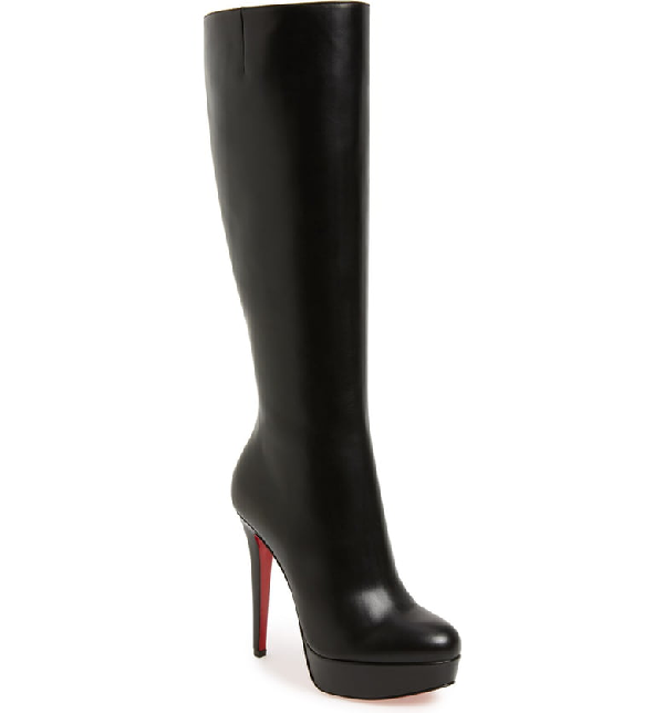 Christian Louboutin 'bianca Botta' Platform Boot In Black Leather