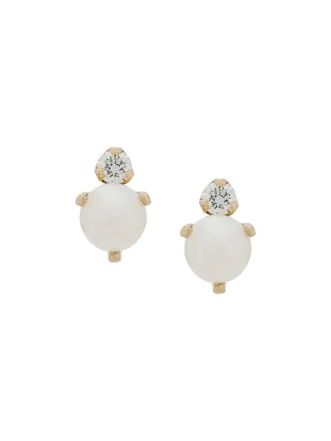 ZoË Chicco 14Kt Yellow Gold Diamond And Pearl Studs