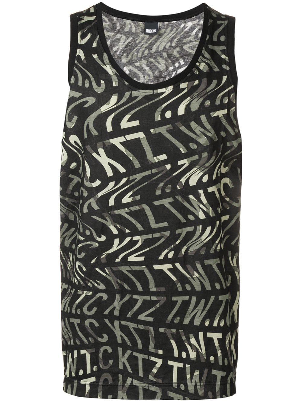 Ktz Camo Vest With Ripple - Black