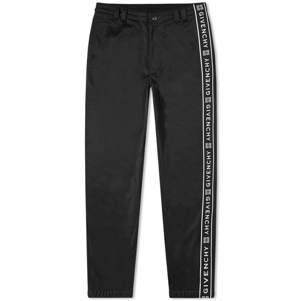 Givenchy Popper Detail Taped Track Pant In Black
