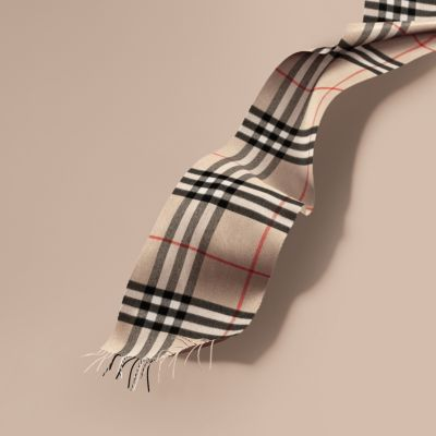 2bd775a198385 Burberry Men's Cashmere Giant Icon Scarf, Camel In Stone Check ...