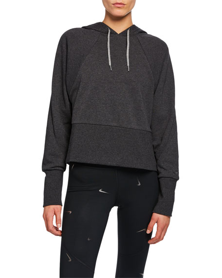 Nike Studio Yoga Training Pullover Hoodie In Charcoal