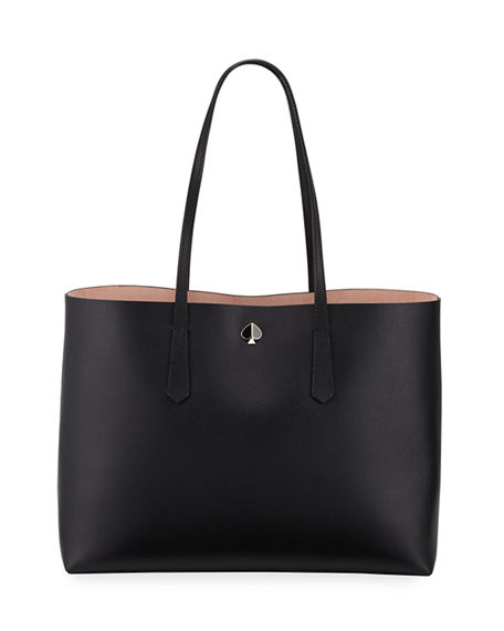 Kate Spade Molly Large Leather Tote In Black