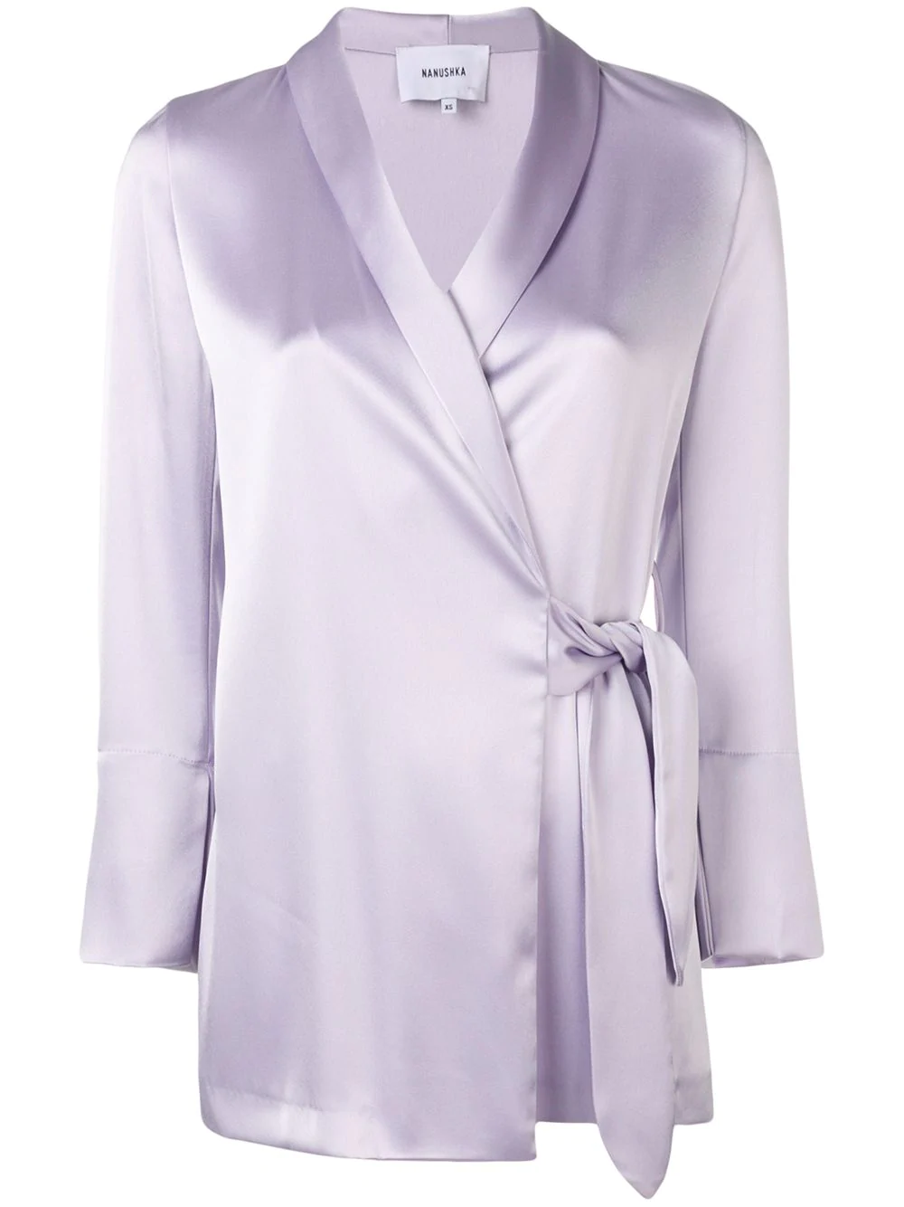 Nanushka Wrap Style Blouse - Purple