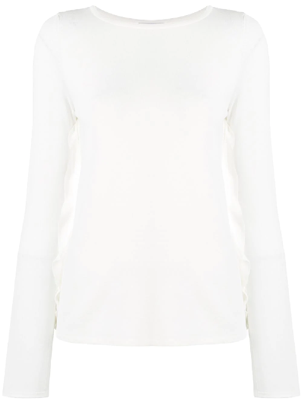 Max Mara Long Sleeve Top - White