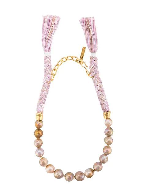 Lizzie Fortunato Corsica Collar Necklace In Purple