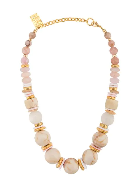 Lizzie Fortunato Quarry Necklace In Pink