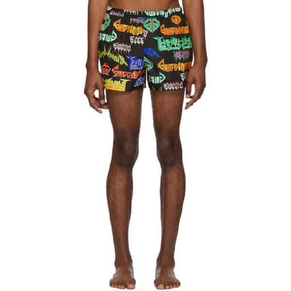 851295644a Gucci Mix Metal Logo-Print Swim Shorts In 1082Blkmult | ModeSens