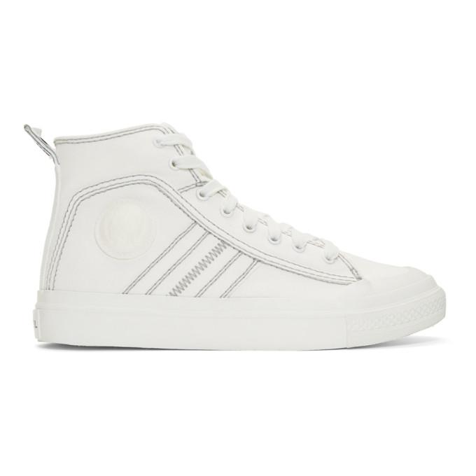 Diesel White S-Astico Sneakers In T1015 Star