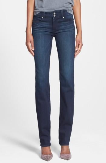 Paige Denim 'transcend - Hidden Hills' High Rise Straight Leg Jeans In Midlake