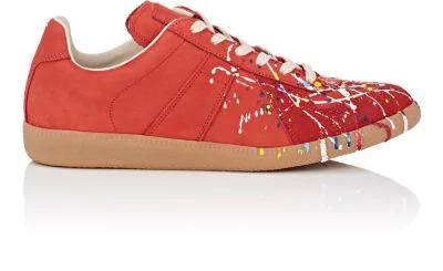 d14819df11731 Maison Margiela Men s Replica Paint-Splatter Suede Low-Top Sneakers ...