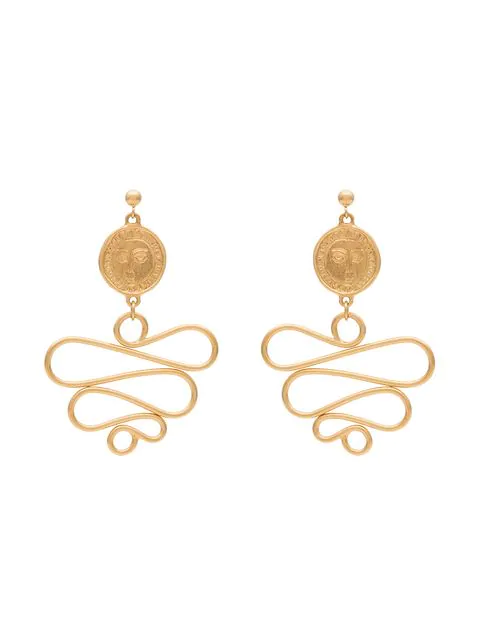 Holly Ryan Gold-plated Picasso Medusa Earrings