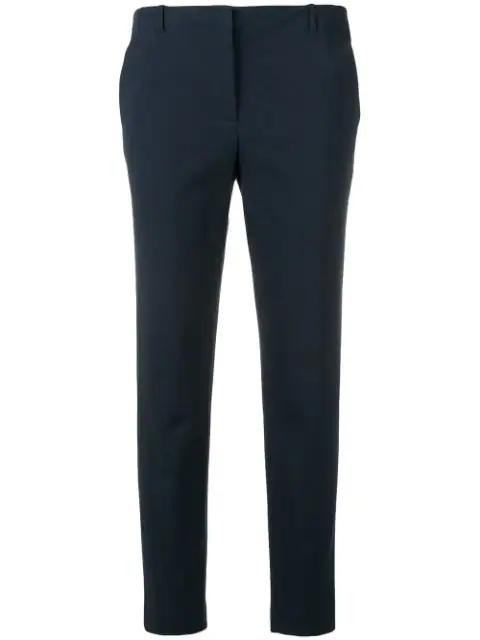 Emporio Armani Classic Slim Trousers In Blue