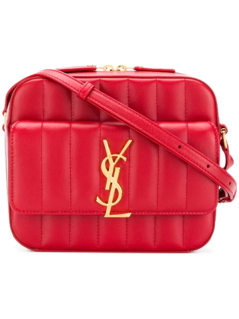 Saint Laurent Vicky Camera Bag In Red