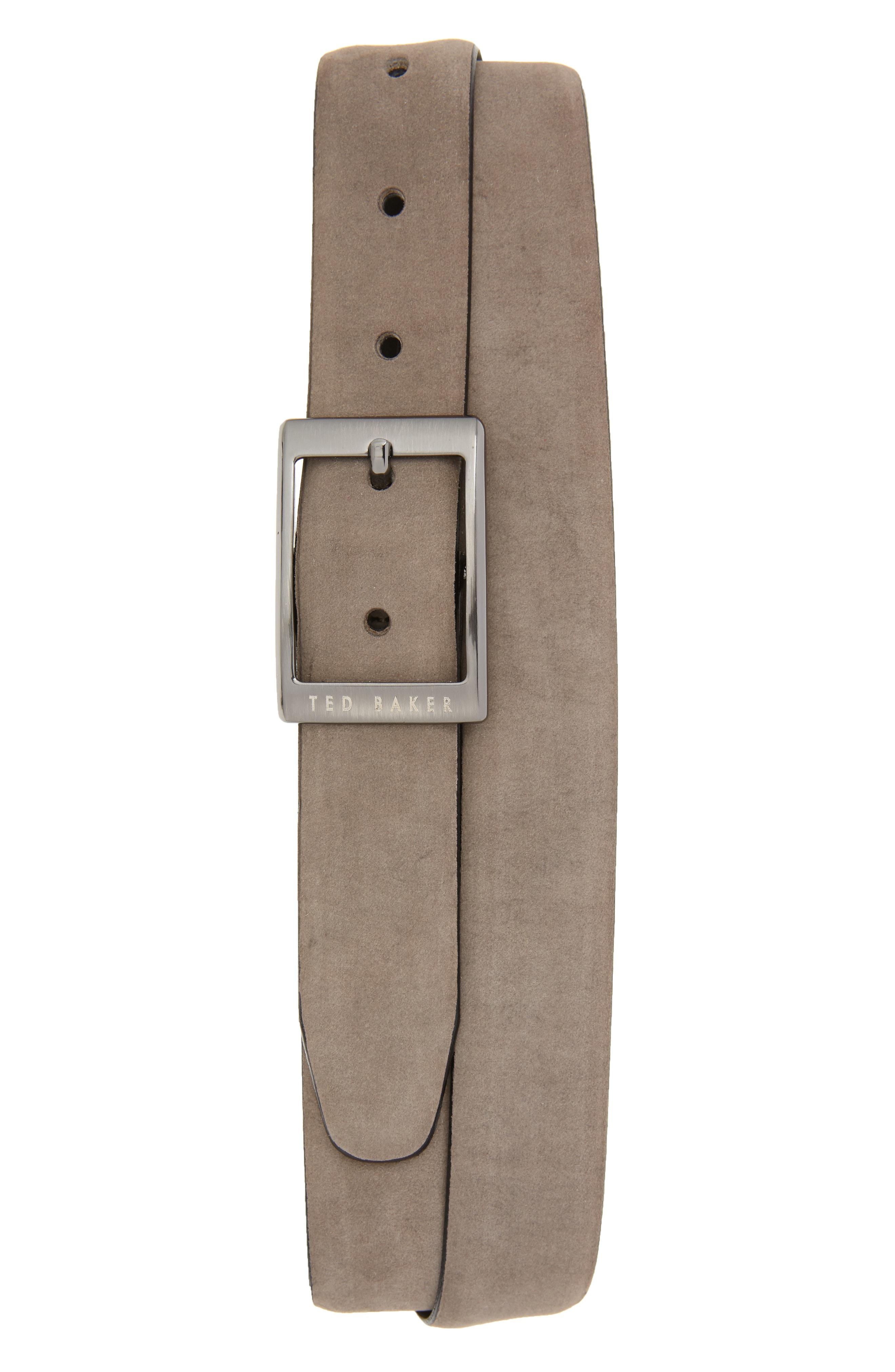 3e9102082da17 Ted Baker Nubuck Leather Belt In Grey