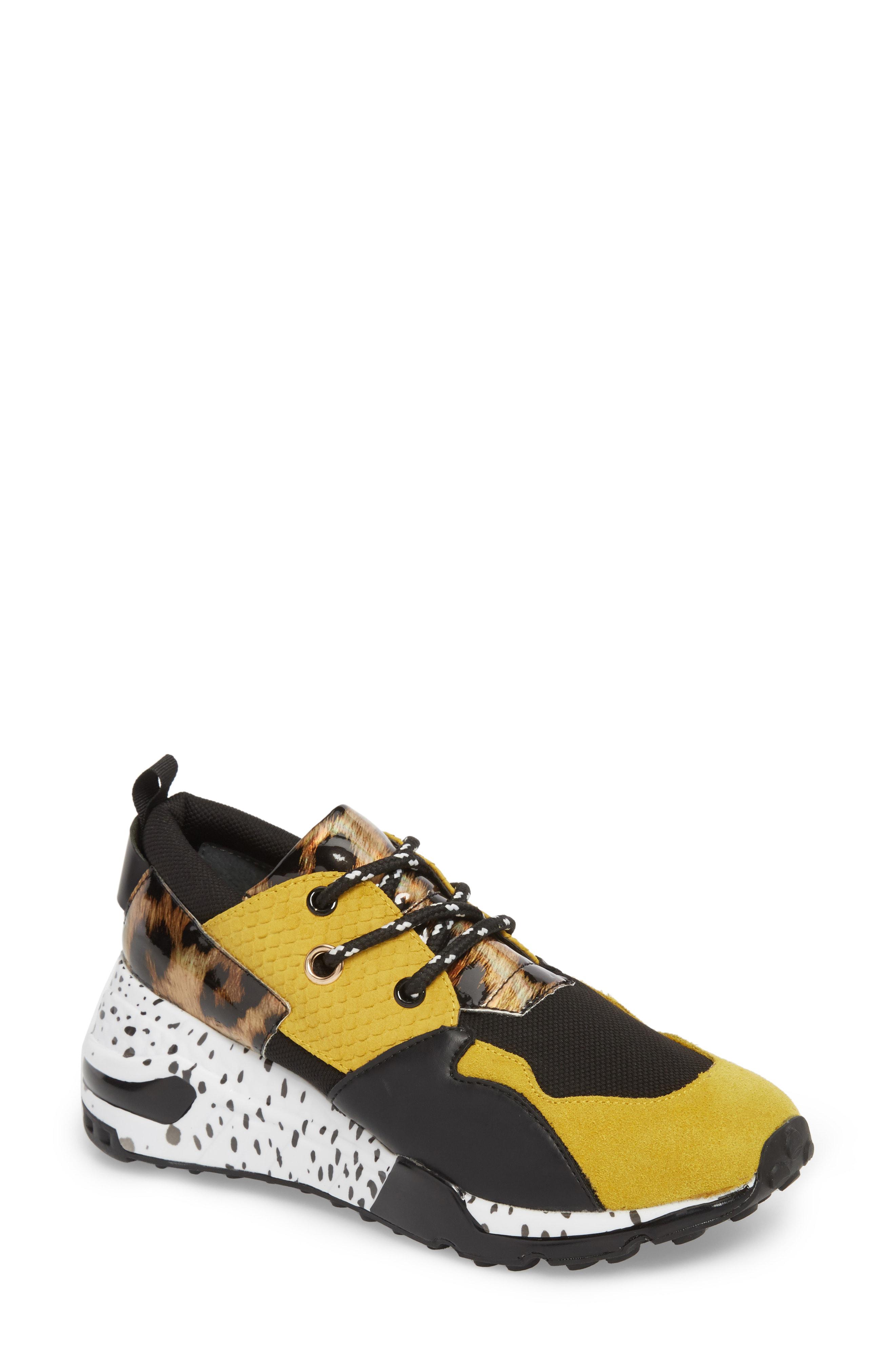 bb8eb0cccd7 Steve Madden Cliff Sneaker In Yellow Multi