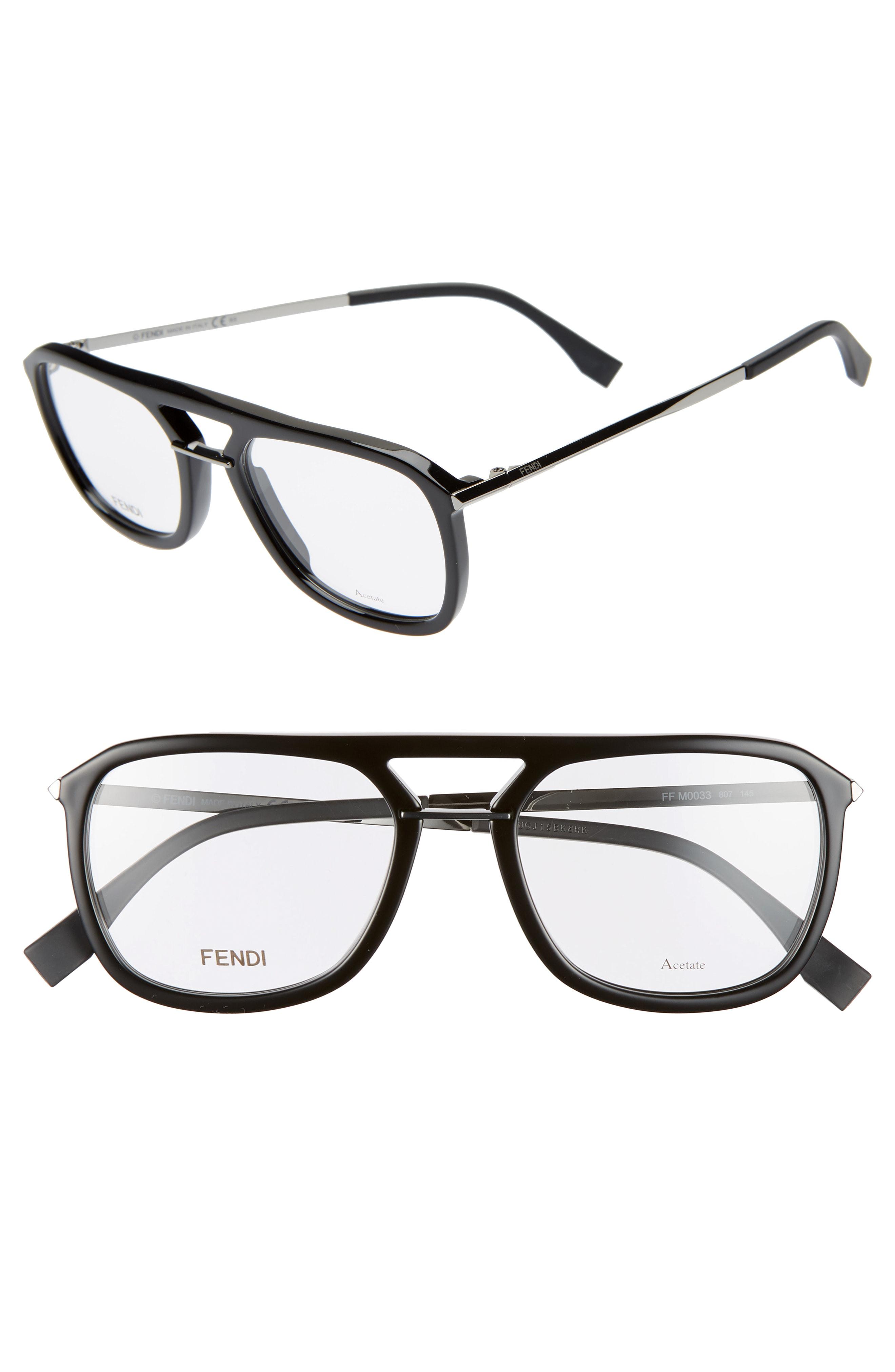 82e45b79592 Fendi 52Mm Optical Glasses - Black