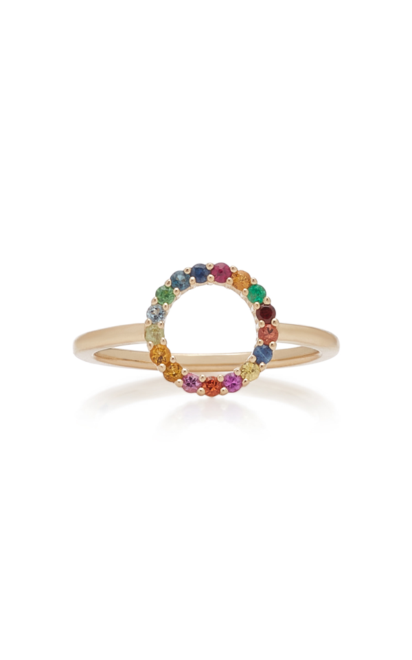 With Love Darling Partnership 14k Gold Multi-stone Ring