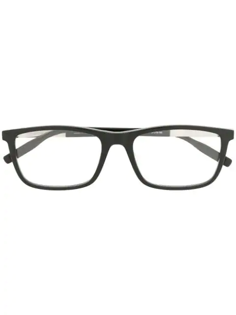 Montblanc Square Shaped Glasses In Black