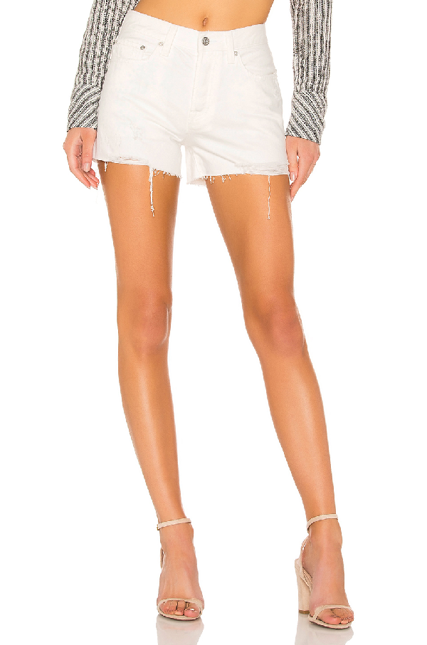 1490ed9c15 Free People Sofia Distressed Denim Shorts In White | ModeSens