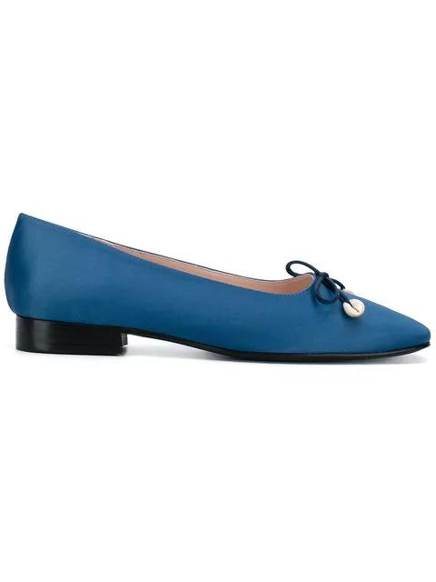 Leandra Medine Square Toe Ballerinas - Blue