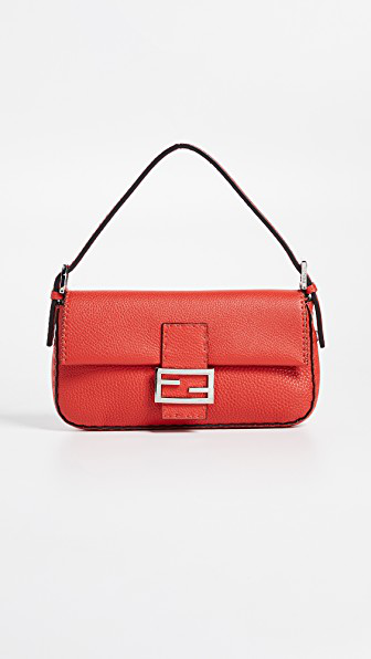 What Goes Around Comes Around Fendi Baguette Bag In Red  11dd783d563d1