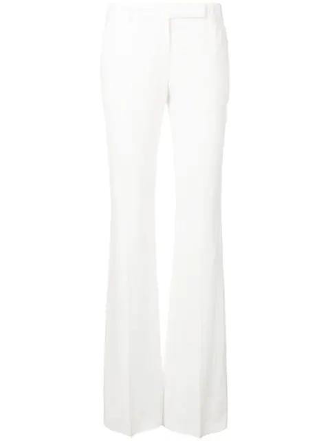 Alexander Mcqueen Women's Bootcut Trousers In White